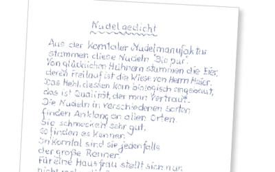 Nudel-Poesie